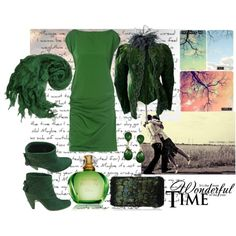 """Wonderful Green"" by norcsikiss on Polyvore"