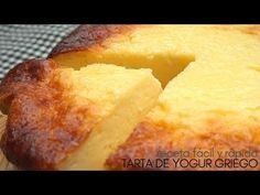 Tarta 🍰 de yogur griego.🍦 4 INGREDIENTES y 5 MINUTOS de trabajo. - YouTube Apple Desserts, No Bake Desserts, Delicious Desserts, Dessert Recipes, Yummy Food, Tart Recipes, Greek Recipes, Cooking Recipes, Le Pilates