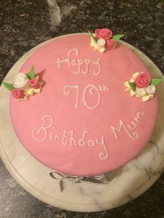 Birthday cake - Victoria sponge with pink flowery cuteness