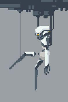 #cyborg #pixel_dailies #pixelart @Pixel_Dailies