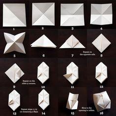 Como fazer balãozinho de papel passo a passo