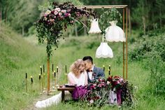 Copper backdrop photoshoot Photo by Natalie McNally Flowers by Magdalen Hill I Cant Help It, Glamorous Wedding, Wedding Events, Real Weddings, Backdrops, Glamour, Photoshoot, Wreaths, Table Decorations