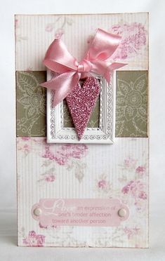 Framed heart card