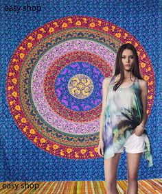 Indian Mandala Hippie Tapestry Throw Wall Hanging Bed Cover Beach Decor new #Handmade