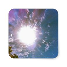 Sun Rays From Above Sticker