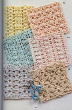 Sezione Hobbystica | La bellezza del fatto a mano Crochet Stitches, Crochet Lace, Rubrics, Blanket, Knitting, Granny Squares, Step By Step, Tricot, Crochet Stitch