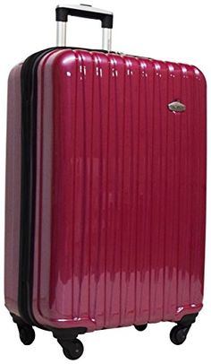 Luggage Sets Collections | Ricardo Bradbury 25 Upright Hardside Luggage Spinner Red Velvet * Click on the image for additional details. Note:It is Affiliate Link to Amazon.