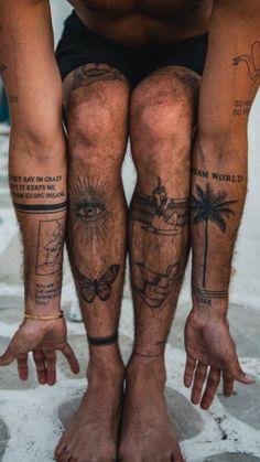 Wing Tattoo Men, Thigh Tattoo Men, Forearm Sleeve Tattoos, Knee Tattoo, Mini Tattoos, Body Art Tattoos, Tattoos For Guys, Tatuagem Diy, Tattoo Samples