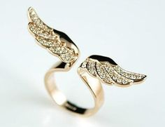 Fashion jewelry vintage New Exquisite Rhinestone angel wing Ring Jewelry for women(China (Mainland)) Cute Jewelry, Jewelry Rings, Jewelery, Jewelry Accessories, Girls Jewelry, Party Accessories, Angel Wing Ring, Angel Wings, Angel Eyes