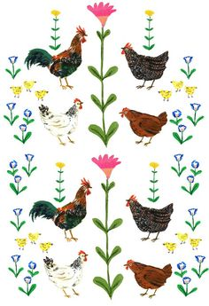 Chickens poster- cute