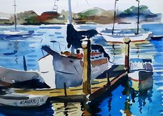 Check out this item in my Etsy shop https://www.etsy.com/listing/252534125/original-watercolor-newport-dock