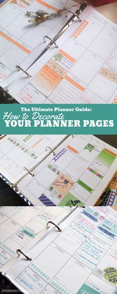 The Ultimate Planner Guide: How to Decorate Your Planner Pages