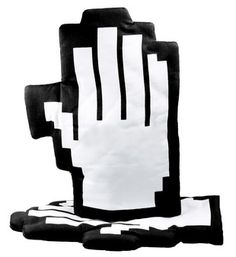 Pixelated oven gloves