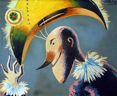 Jean Dallaire - Cadet Rousselle (1952) Jean Philippe, Oeuvre D'art, Arts, Les Oeuvres, Rooster, Illustration, Painting, Animals, Inspiration