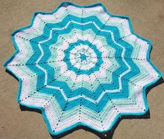 Afghan Patterns Beginners Round Ripple Afghan Baby Blanket Free Crochet Pattern - Round ripple afghans are unique in many ways. Here are a couple of Round Ripple Afghan Baby Blanket Free Crochet Pattern for you to make them. Crochet Afghans, Crochet Ripple Afghan, Crochet Stars, Crochet Motifs, Baby Blanket Crochet, Crochet Stitches, Crochet Blankets, Baby Blankets, Baby Afghans