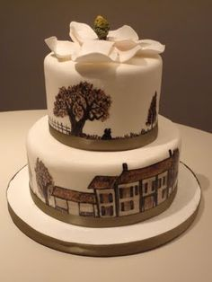 Gone With the Wind cake,  I love love this, this is my favorite movie, I can use this for my theme dinner.
