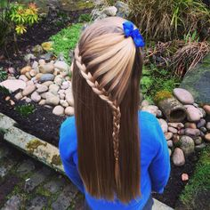 Cute kids lace braid hairstyle called The Arrow Head!