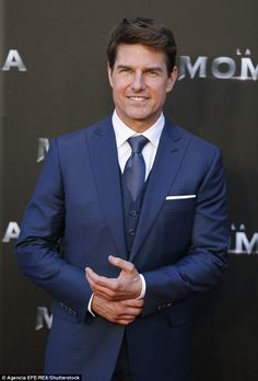 The Hollywood star, returned to the promo trail for the latest installment in the franchise on Monday in Spain after the London premiere was cancelled in wake of the Manchester terror attack last week. Tom Cruise, Hollywood Actor, Hollywood Stars, Portrait Photography Men, My Tom, Mission Impossible, Most Handsome Men, Celebrity Babies, Actor