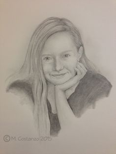 """Portrait drawn by my amazing daughter, Gold Key winner in the 2015 Scholastic Art Awards, pencil 11 x 14"""", M. Costanzo"""