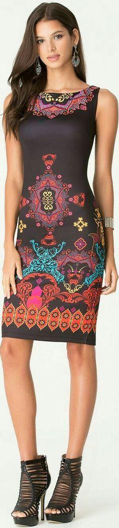 SK Women's Fashion - printed aztec style summer dress. Pretty Dresses, Sexy Dresses, Beautiful Dresses, Look Fashion, Girl Fashion, Womens Fashion, Actrices Sexy, Gorgeous Women, Sexy Women