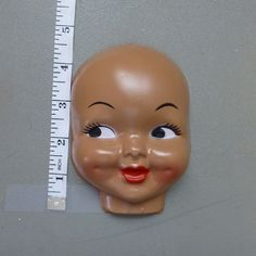 Girl Doll Face  Plastic Celluloid Style Half by DebbieCrochets