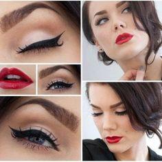 Maquillaje pin up <3 #Bellashoot #Beautytips #MakeupLooks