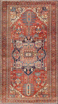 "Persian Heriz Serapi rug, 12'2""X20'6"", 1890, Keivan Woven Arts Gallery"