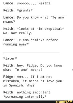 Should've known Lance was Spanish. ..