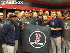 Red Sox Proclaim 'Boston, You're OUR Home' With Autographed Boston Strong Banner (Photo)   Boston Red Sox   NESN.com