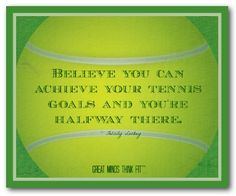 Tennis quotes for inspiration and motivation on images and tennis posters by author and designer Felicity Luckey of Great Minds Think Fit. Tennis Rules, Tennis Gear, Tennis Tips, Tennis Clothes, Best Sports Quotes, Sport Quotes, Tennis Posters, How To Play Tennis, Tennis Serve