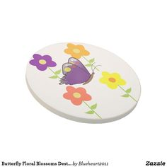 Butterfly Floral Blossoms Destiny Gardens Drink Coaster