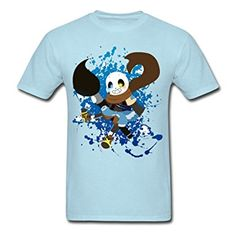 LeiANze Undertale Ink Sans And Skelebros Your Own Zone Men's T-Shirts Sky blue Medium