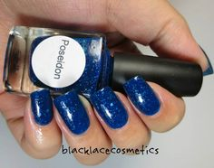 Poseidon: The god of Sea is represented with a dark blue jelly scattered holo with teal glitters