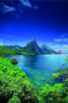 #Saint_Lucia Island #Caribbean #Sea http://en.directrooms.com/hotels/country/9-132/