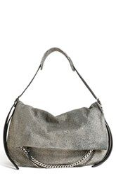 888d47b4f7d Jimmy Choo  Biker - Large  Metallic Suede Shoulder Bag