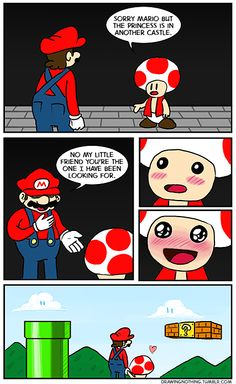 Toad is Mario's OTP