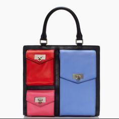 New Handbags, Kate Spade Handbags, Kate Spade Bag, Tote Handbags, Leather Purses, Leather Handbags, Bow Bag, Nylon Tote Bags, Unique Bags