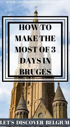 How to make the most of 2 days in Bruges, Belgium. Bruges is a compact city, yet it is bursting with historical charm and fun things to do. A 3 day Bruges city break is a great length of time to explore the many aspects of this charming city. Click to read 3 Day Bruges City Break Guide – Things to do in Bruges #Bruges #Belgium #TravelGuide