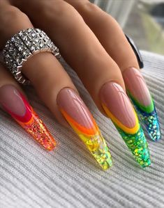 68 Beautiful Stiletto Nails Art Designs And Acrylic Nails Ideas 2020 - Lily Fashion Style Bling Acrylic Nails, Stiletto Nail Art, Glam Nails, Best Acrylic Nails, Fancy Nails, Acrylic Nail Designs, Bling Nails, Hot Nails, Hair And Nails