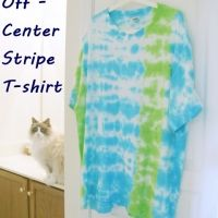 Tie Dye for Men: Easy Off-Center Stripe T-Shirt Tutorial