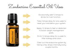 Endocrine, colon, liver, kidney, cleanse it all with Zendocrine doterra essential oil!
