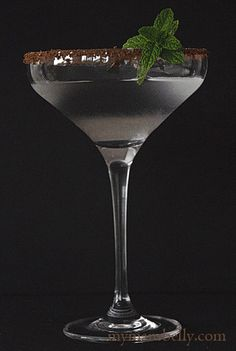 Chocolate Peppermint Martini-Recipe