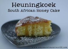 This honey cake is yummy warm or cold! South African Desserts, South African Dishes, South African Recipes, Oven Chicken Recipes, Dutch Oven Recipes, Cooking Recipes, Food Truck Desserts, Africa Cake, Salted Caramel Fudge