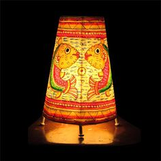 41 best hand painted indian lampshades images on pinterest bright bring the lodge look to your favorite space with painted lamp shades or soft painted leather aloadofball Image collections