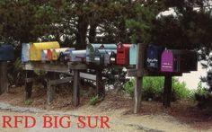 Partington Ridge Mailboxes, Highway 1, Big Sur, CA