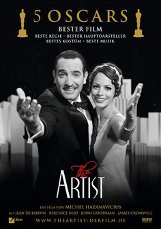 The Artist is a 2011 French romantic comedy drama in the style of a black-and-white silent film.    written and directed by Michel Hazanavicius, starring Jean Dujardin and Bérénice Bejo. The story takes place in Hollywood, between 1927 and 1932, and focuses on the relationship of an older silent film star and a rising young actress, as silent cinema falls out of fashion and is replaced by the talkies.