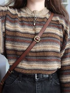 Shop Womens Vintage Knit Sweater online with high quality and hurry to get fashion on quickly. Vintage Outfits, Retro Outfits, Cute Casual Outfits, Vintage Fashion, Vintage Men, Top Vintage, Dress Vintage, Vintage Clothing, Fashion 90s