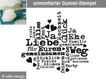 Stempel Hochzeits - Wortwolke_01, unmontiert