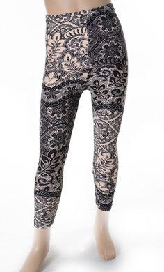 Girls print fleece lined leggings only $10!