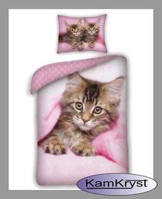 Nowa pościel z kotkiem - czyż nie urocza?
